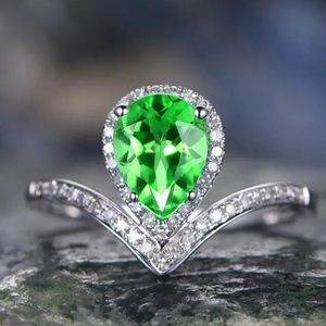 BRAND NEW 2CT PEAR CUT EMERALD RING